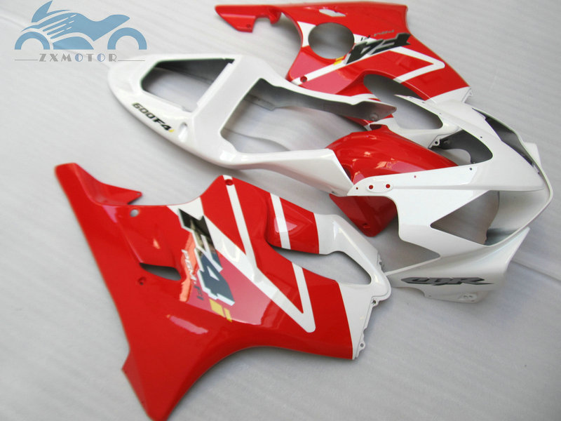 ABS plastic OEM fairing kit fit for <font><b>Honda</b></font> <font><b>cbr600f4i</b></font> 2001 2002 2003 CBR 600 F4i 01 02 03 red white fairing kits <font><b>parts</b></font> LD16 image
