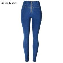 Vaqueros de cintura alta para Mujer, ropa de calle, pantalones vaqueros ajustados para Mujer, chándal de LICRA de algodón azul desgastado, Spodnie Damskie