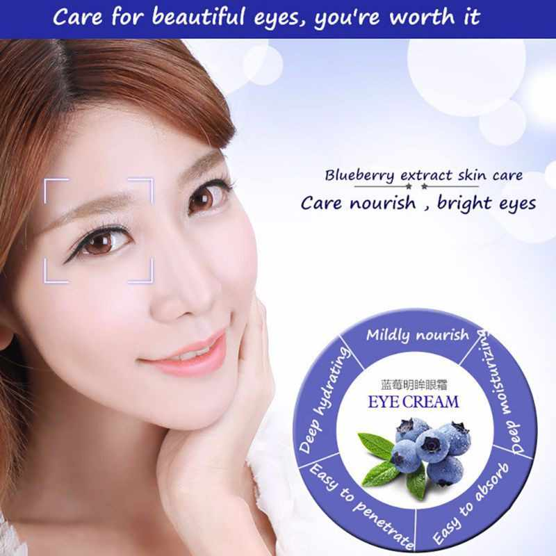 BIOAQUA Blueberry Verlichting Ogen Gel Anti Rimpel Anti-Wallen Dark Circle Anti-Aging Hydraterende Oogzorg Oogcrème