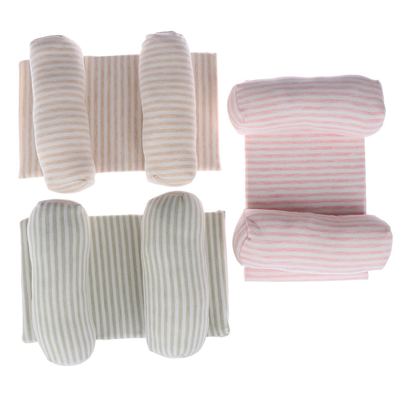 Soft Lovely Comfortable Anti Roll Cute Cotton Pillow Memory Foam Positioner Prevent Flat Head Baby Toddler Safe Striped Sleep