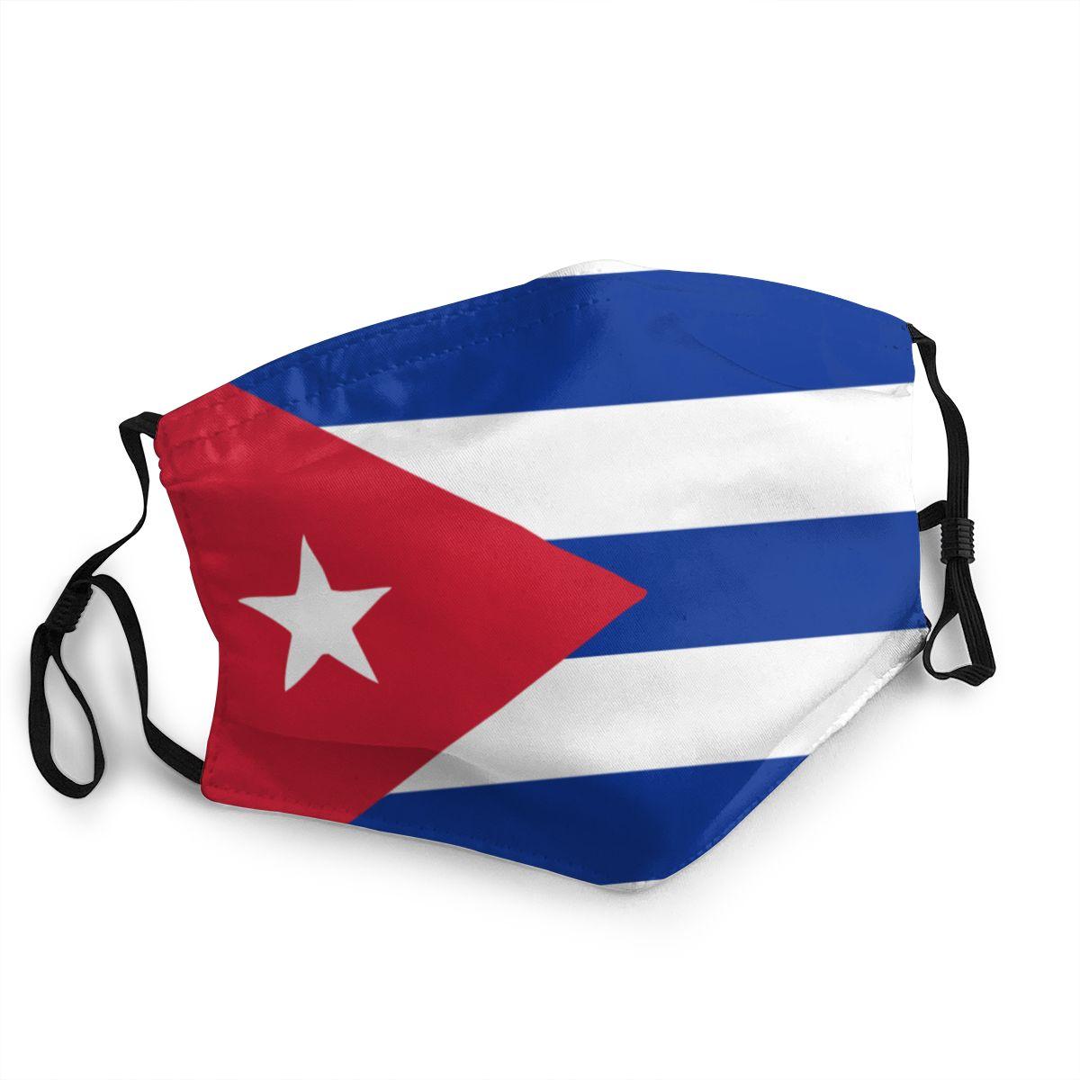 Cuba Cuban National Flag Reusable Mouth Face Mask Anti Haze Dust Protection Cover Respirator