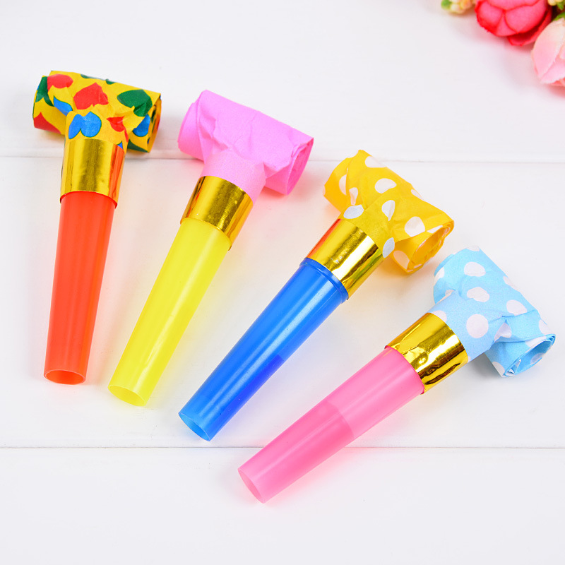 Party Dragon Blowing Wholesale 6.5cm Dot Paper Dragon Blowing Children's Adult Birthday Party Colorful Whistle Noise Props