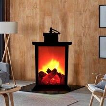 Светодиодный пламени Фонари лампы имитация камина светодиодный