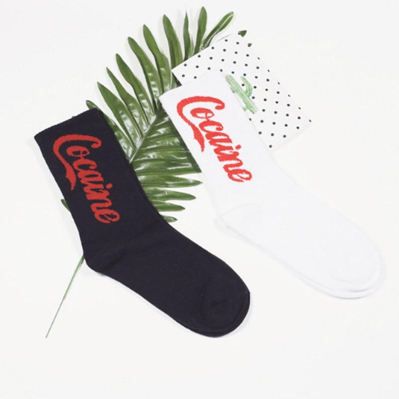 Fashion Strearwear Unisex Hip Hop Mens Socks Cotton Skateboard Hip Hop Socks Winter Autumn Gifts For Men Meias EUR37-43 100601