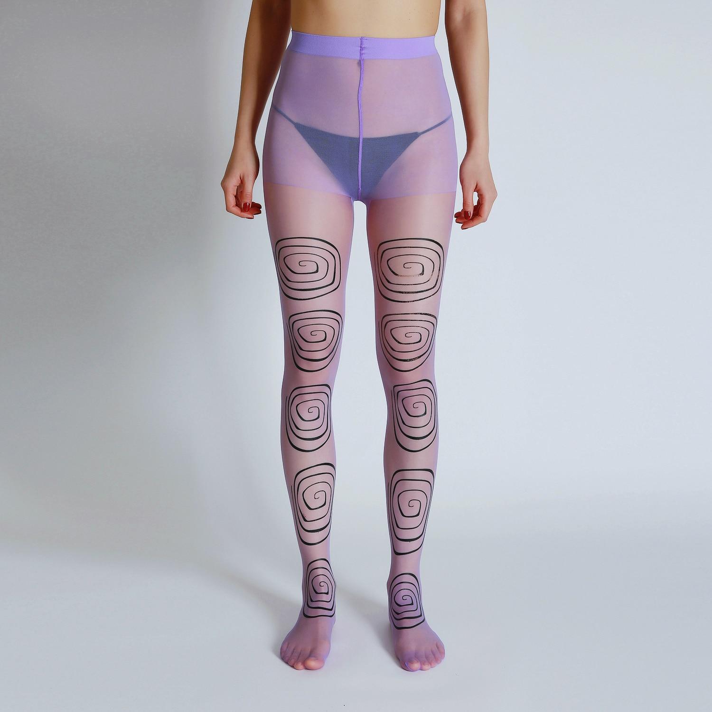 Новые модные дизайнерские пикантные круглые колготки с принтом головокружения высококачественные прозрачные колготки женские чулки