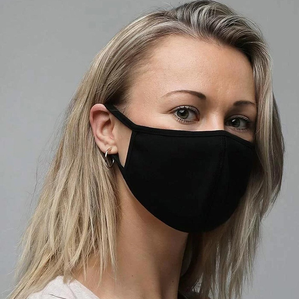 Face-Mask Cloth Mouth-Cover Washable Black Cotton Fashion Masque 1PCS