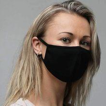1 шт. с текстильной отделкой из хлопка; Черные лицевая маска моющиеся хлопок маски для лица, рта рот чехла ace щит маска для лица ткани моды