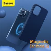 Baseus-funda magnética para iPhone 12 Pro Max, carcasa trasera de Gel de sílice, adsorción