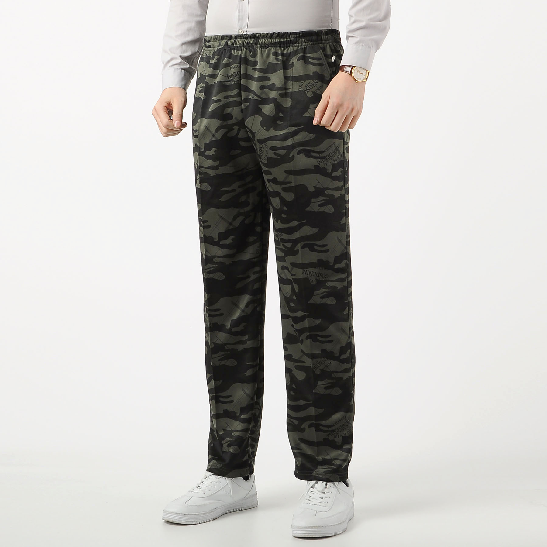 Men Casual Athletic Pants Camouflage Trousers Breathable Knitted Work Pants Men's Amount-