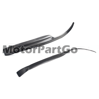 Real Crabon Fiber Head light Eyelid Eyebrow Cover Trim 1pair for  Mitsubishi  EVO 7- 9 2001-2007 T207 1