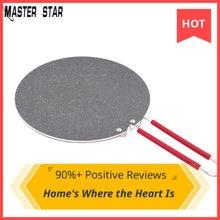 Master Star 34cm Flat Pans Crepe Pan Arabian Bread Chapatis Pancakes Large Non-stick Pan For Naan Bread Gas Cooker