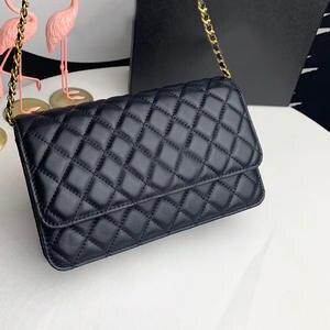 Women's Bag Chain-Bag Messenger Single-Shoulder 100%Leather Luxury Brand High-Quality