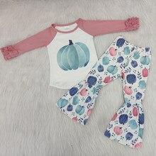 Conjunto de roupas para crianças boutique inverno roupa do bebê criança menina halloween outfit outono inverno correspondência roupa do bebê remake