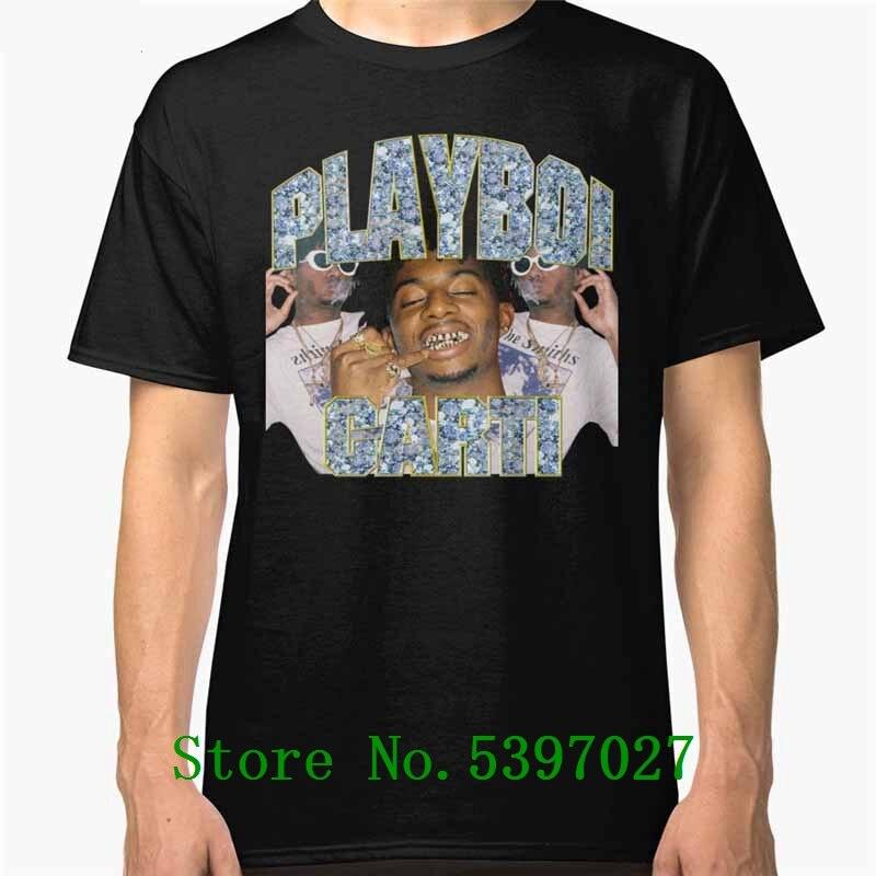 Awesome T Shirts For Guys Short Sleeve O-Neck Regular Mens o Neck Top Quality Men Playboi Carti Hip-Hop Black Tee Shirt