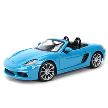 Bburago 1:24 Porsche 718 Boxster samochód sportowy statyczny odlew pojazdy Model kolekcjonerski samochody zabawkowe