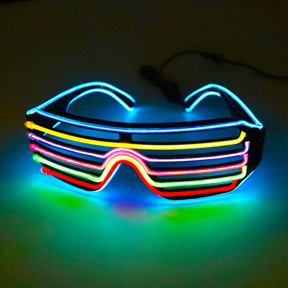 1 Pcs Colorful Blinds Luminous Glasses Christmas Items Party Props Holiday Gifts Flash