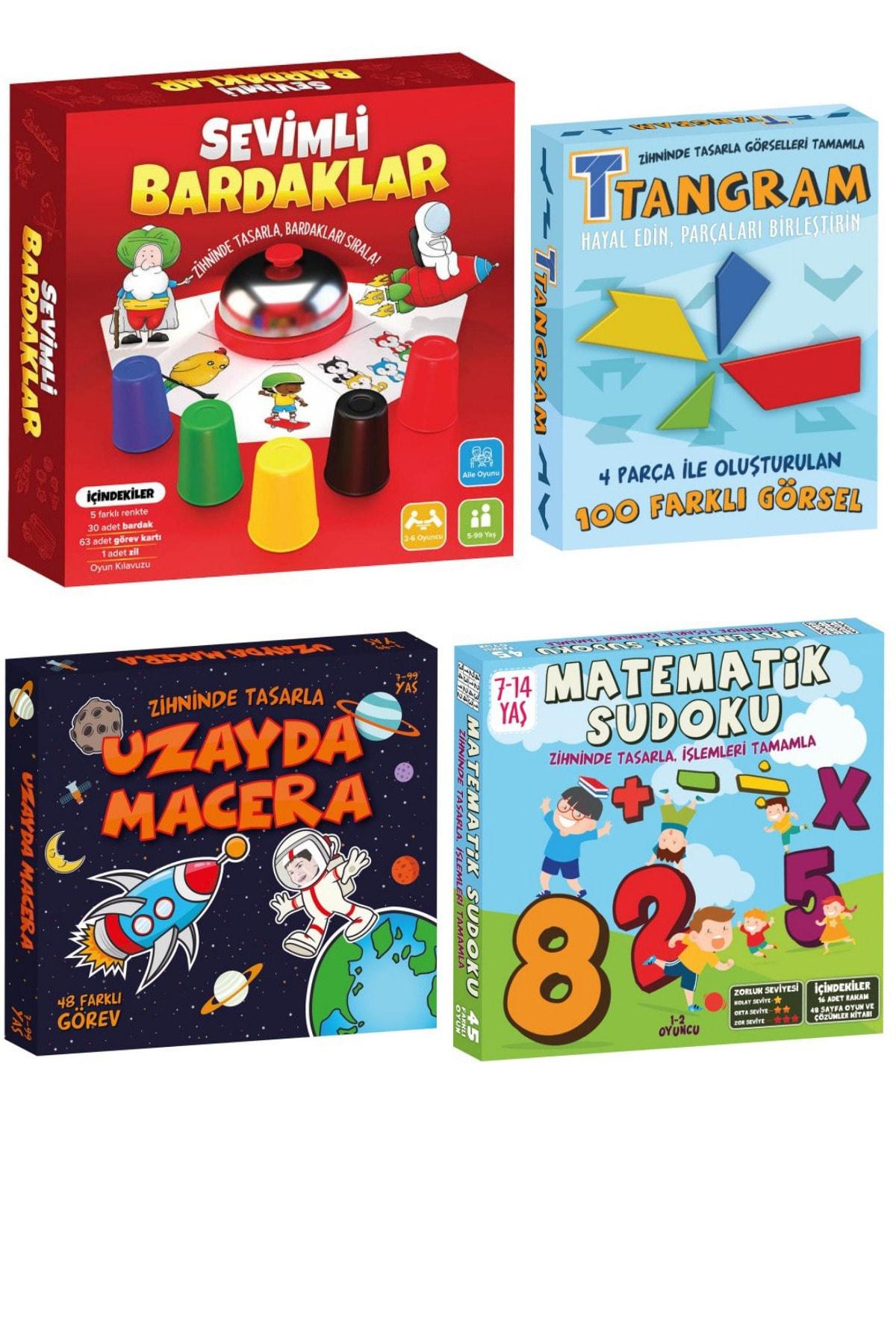 Game Art Kids Holiday Set Mind Intelligence Games Set Glass Game, Space Adventure, Tangram, Mathematical Sudoku Space Adventure