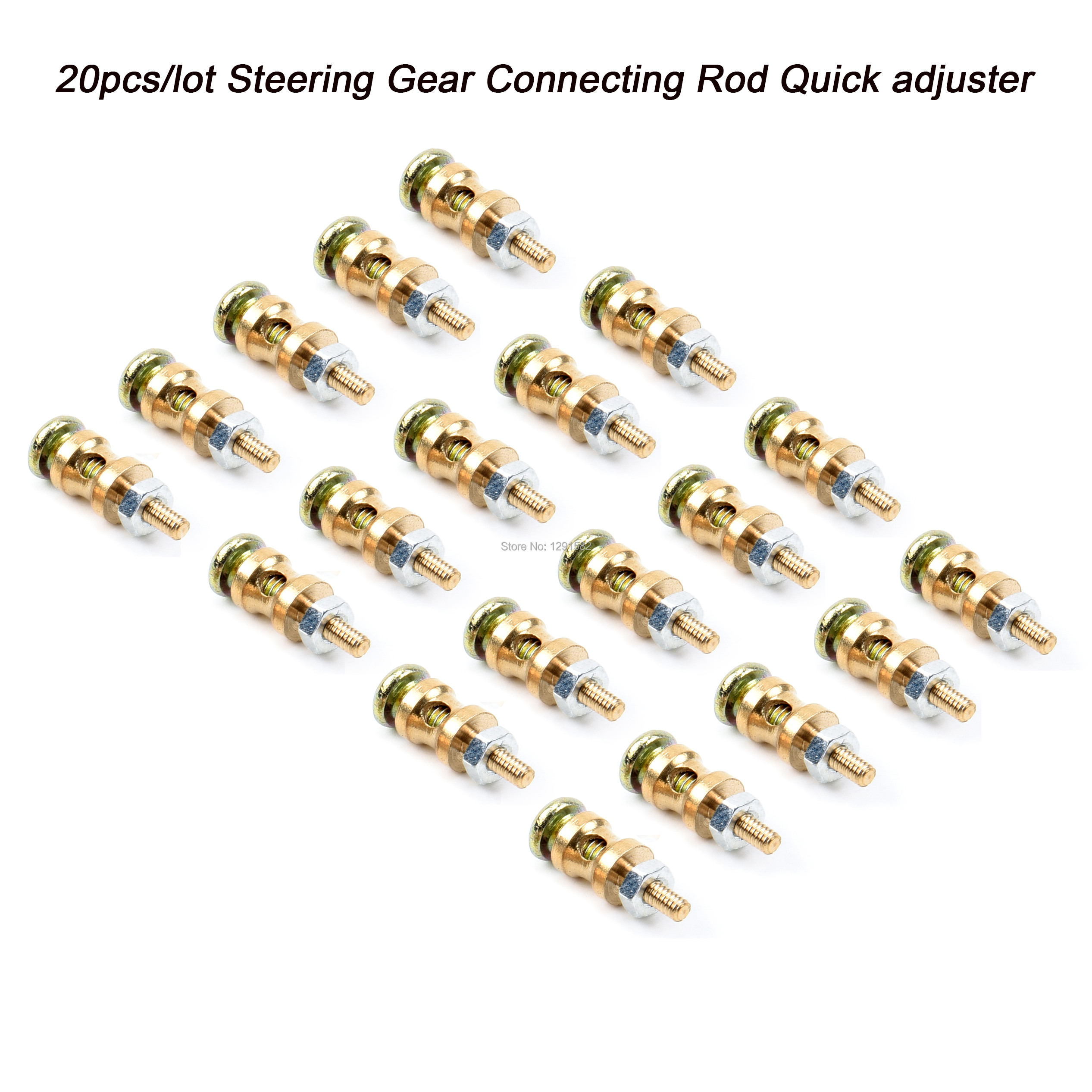 Hobbypark 25pcs Adjustable Pushrod Connector Linkage Stoppers D1.3mm RC Airplane