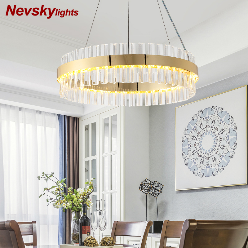 luxury crystal pendant light living room led pendant lamps dining room modern hanging lighting bedroom crystal kitchen fixtures