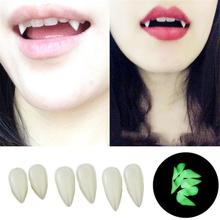 Halloween Dentures Vampire Zombie Teeth Little Tiger Braces Cosplay Masquerade Props Fluorescent
