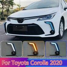 For Toyota Corolla 2020 2PCS LED Daytime Light Running Super Brightness 12V Car LED DRL Waterproof ABS Daylight Bulb стоимость