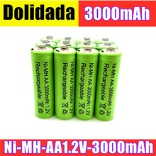 AA battery 3000 mAh Rechargeable battery NI-MH 1.2 V AA battery,apply flashlight, remote control, toy,electric razor, etc.