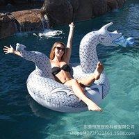 2018 New Style Inflatable Water Unicorn Dragon Riding Swim Ring Charizard Adult Swimming Tube Dinosaur Swim Ring