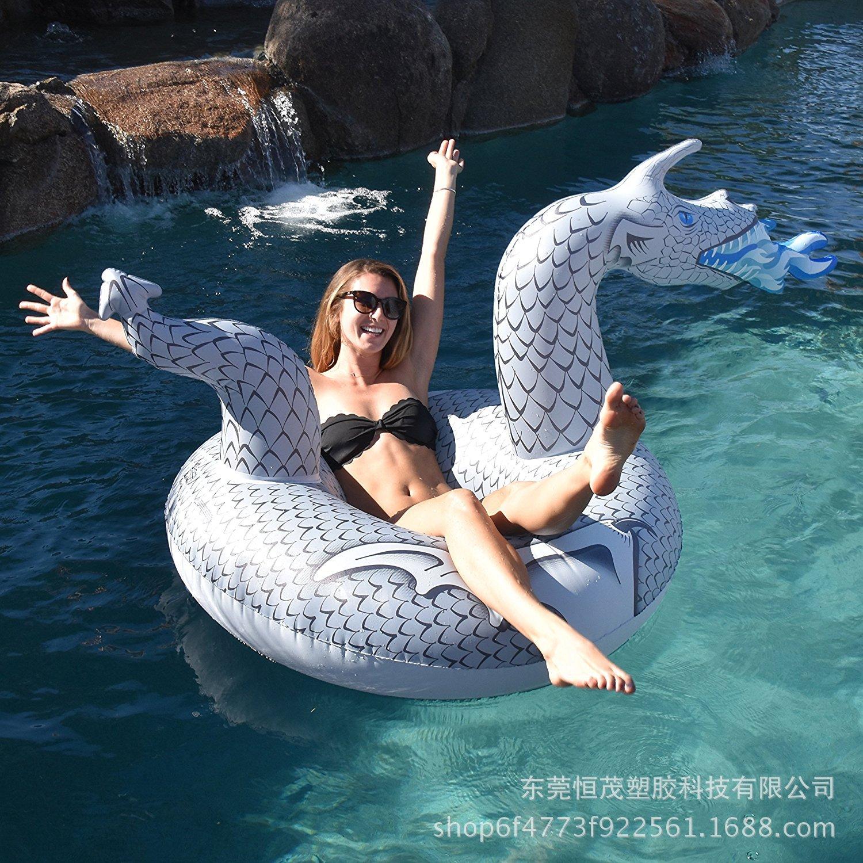 2018 nouveau Style gonflable eau licorne Dragon équitation anneau de natation Charizard adulte Tube de natation dinosaure anneau de bain
