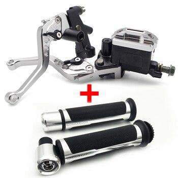 Motorcycle Break Clutch Lever&Handlebar Grip Accessories For SUZUKI gn 125 intruder vl 1500 sj410 rm 125 gsxr 1000 k7 m50 dl650