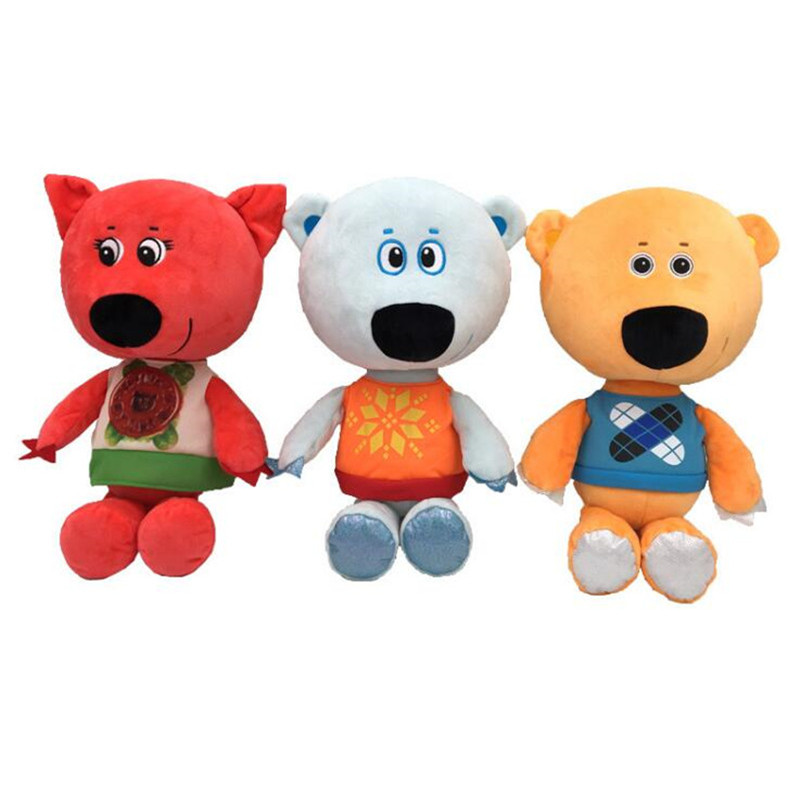 3pcs/set Teddy Bear Plush Toys Soft Stuffed Animal MiMi Bear Dolls For Kid Birthday Gift