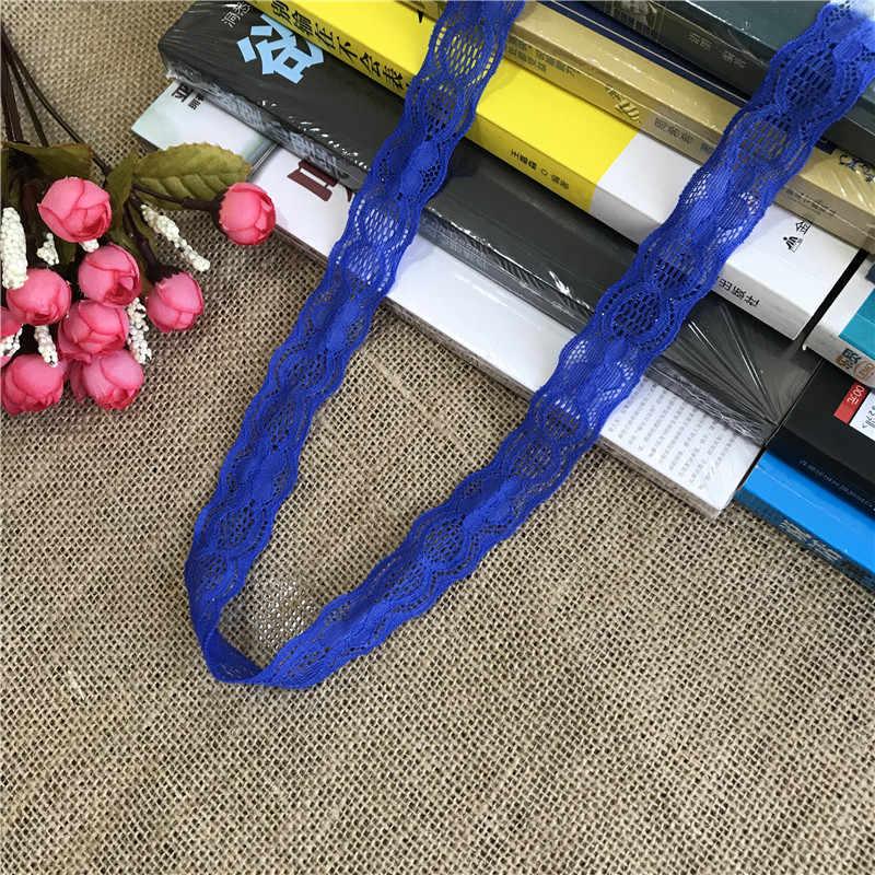 * S1229 цветная Высококачественная эластичная кружевная лента 2,5 см широкая белая кружевная ткань аксессуары DIY Швейные аксессуары