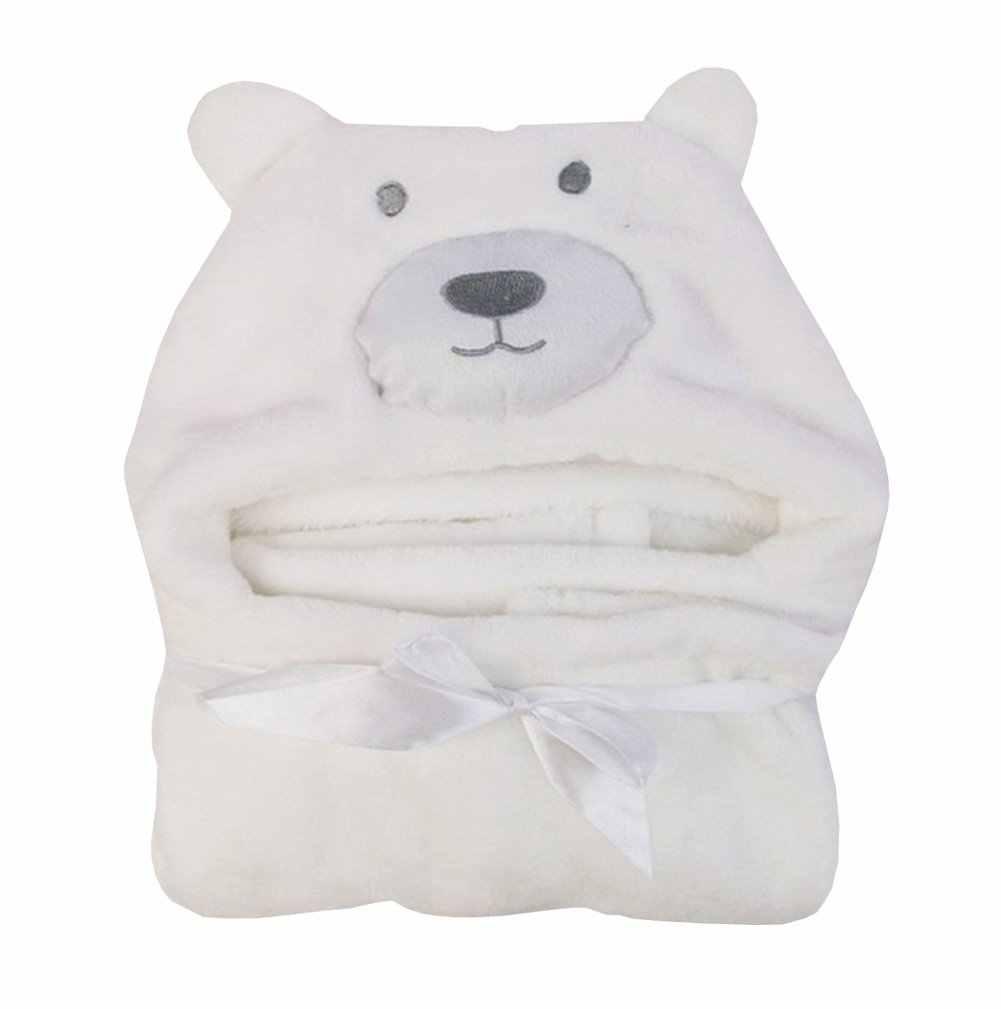 Cute Cartoon Baby Hooded Bath Towel Soft Infant Newborn Baby Giraffe Bear Shaped Bathrobe Towel Blanket  Washcloth 100cm