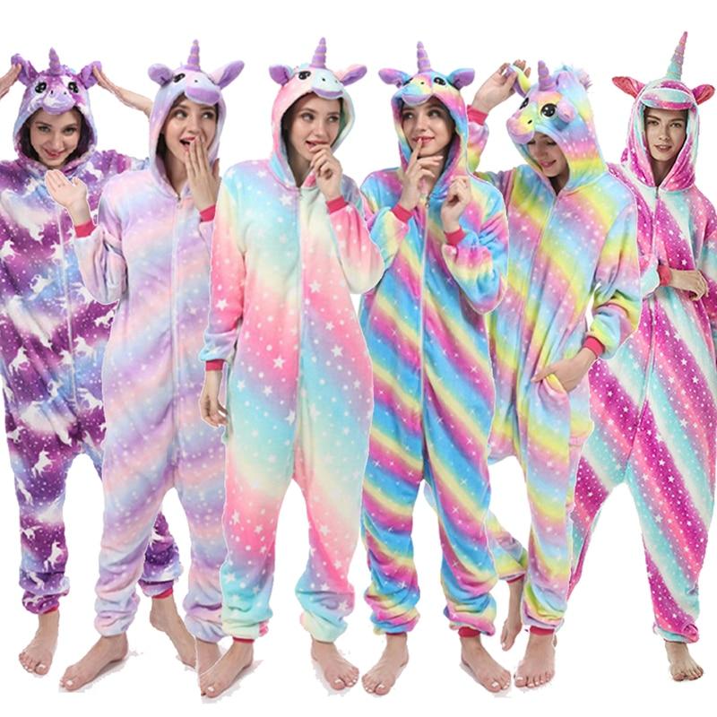 Kigurumi Pajama Boys Girls Sets Panda Unicorn Pajamas For Women Pijimas Onesie  Adults Animal