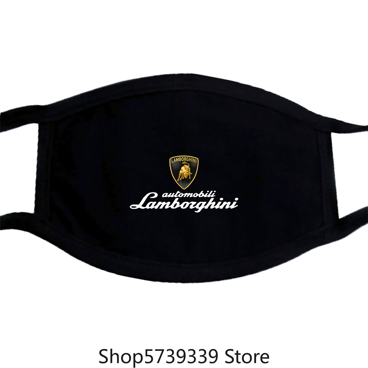 Lamborghini Badge Emblem Lp61-Custom Mask Tee Washable Reusable Mask