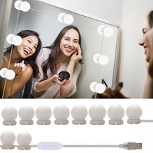 Hollywood Style LED Mirror Light Makeup USB Cosmetic Make Up Lamp 10 Bulbs Kit 3 Colors Lighting Beauty Dressing