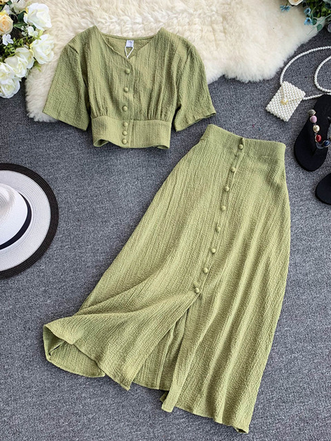 2019 Two piece set Summer Outfits  5