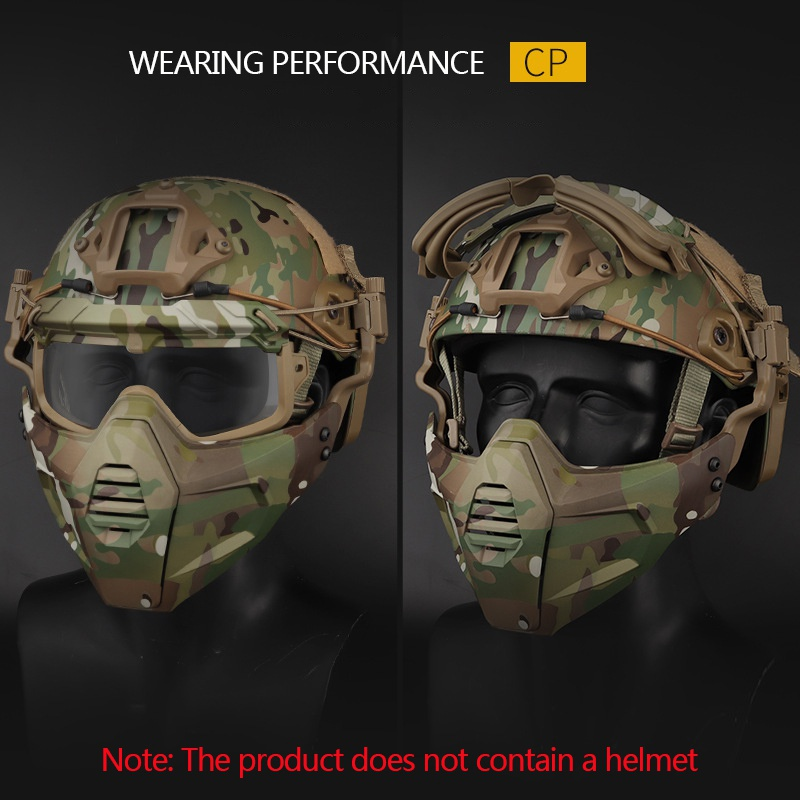 Motorcycle Goggle Mask Tactical Paintball Glasses With Detachable Skiing Mask For Airsoft/CS/Snowmobile/Cycling/Halloween Mask