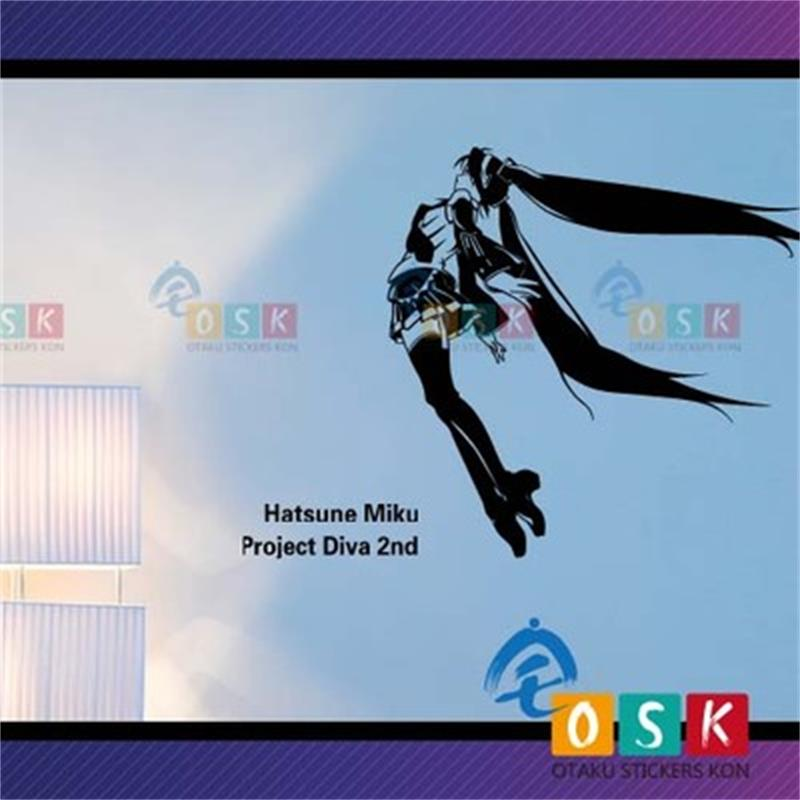 Hatsune Future MIKU Wall Stickers Single-piece Package Mirage of Beauty Plastic Cartoon Onion Songs Plan LXS image