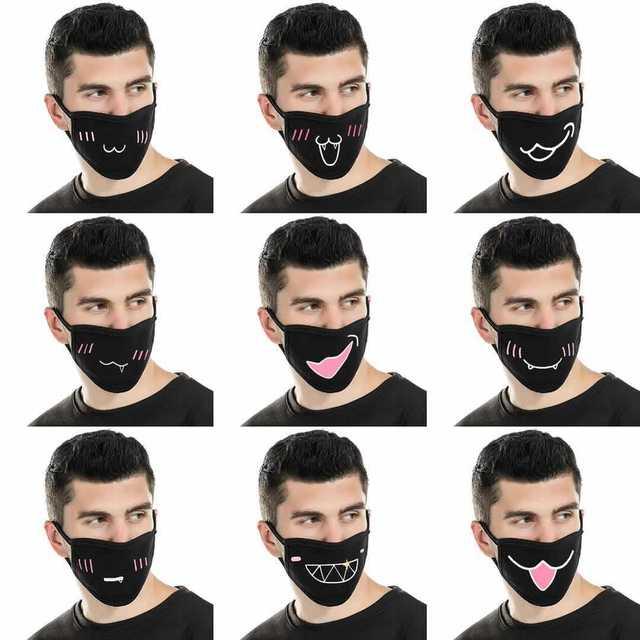 Мультяшная мультяшная маска для лица с изображением жареного цыпленка, прохладная маска для верховой езды, Пыленепроницаемая, милая нейтральная/для мужчин и женщин