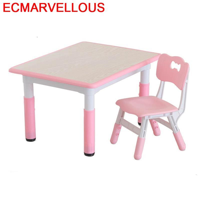 Scrivania Play Y Silla Desk De Estudio Tavolino Bambini Kindergarten Mesa Infantil Kinder Study For Kids Enfant Children Table