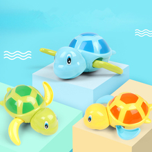 2020 Cute Cartoon Animal Tortoise Classic Baby Water Toy Infant Swim Turtle Wound-up Chain Clockwork Kids Beach Bath Toys