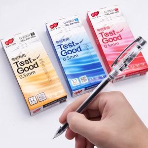 12pcs ZHIXIN 3 Colors Gel Pen Test Good High Capacity Black Red Blue Gel Ink Pens Office School Supplies G-2501