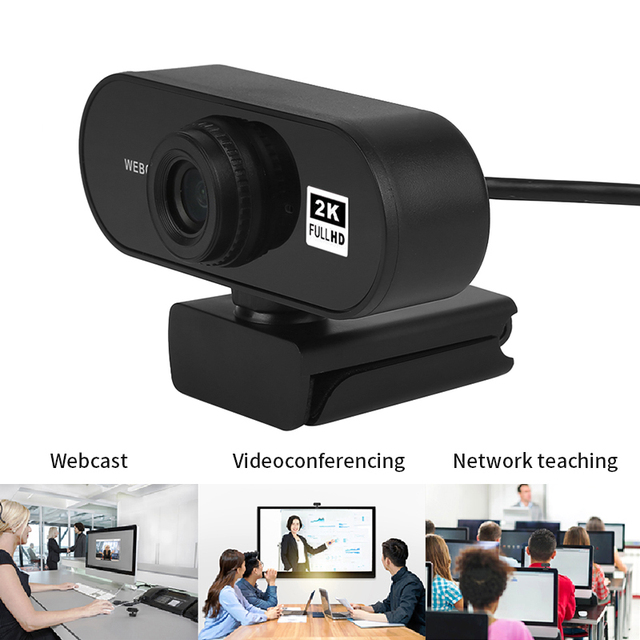 Auto Focus 2K Full HD USB Webcam Built-in Microphone High-end Video Call Camera Computer Peripherals Web Camera For PC Laptop