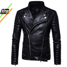 New High Quality Overcoat Men's Street Windbreaker Coat Plush Men Leather Locomotive Fur Clothing PU Casual Jacket Eurocode Size