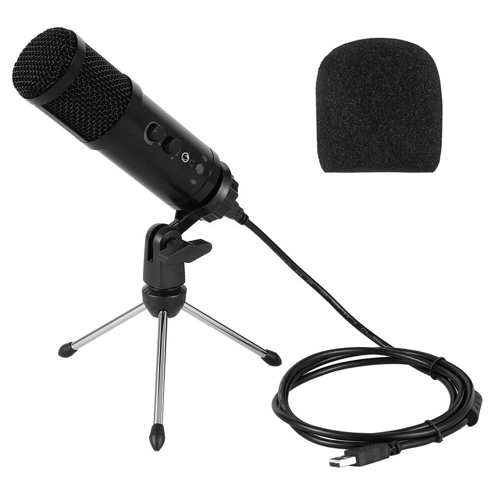 Металлический USB конденсатор Запись микрофон для портативных компьютеров Windows кардиоидный Studio Запись вокала передача голоса по YouTube