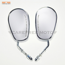 Chrome motocicleta espelho retrovisor lateral caso para harley davidson flhtc xr1200 xl883 sportster softail clássico