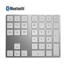 34 키 블루투스 3.0 무선 숫자 키패드 더 많은 기능 키가있는 미니 숫자 패드 pc 용 디지털 키보드 macbook number pad mini