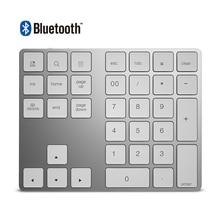 34 מפתחות Bluetooth 3.0 אלחוטי מקלדת הנומרית מיני Numpad עם יותר פונקצית מפתח דיגיטלי מקלדת עבור מחשב Macbook מספר Pad מיני