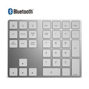 34 Keys Bluetooth 3.0 Wireless Numeric Keypad Mini Numpad with More Function Key Digital Keyboard For PC Macbook Number Pad Mini(China)