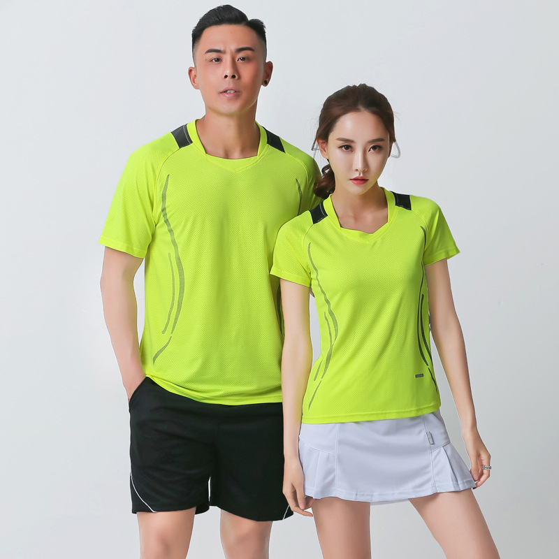New Products New Style Spring And Summer Quick-Dry Half Sleeve Table Tennis Wear Men And Women Quick-Dry Badminton Clothing Coup